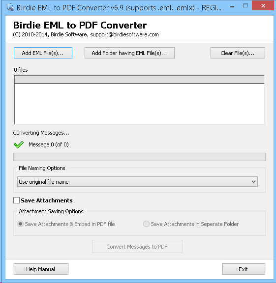 Convert EML Email Messages to PDF