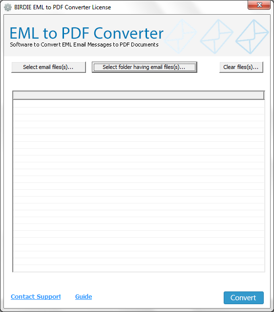 Batch Convert EML to PDF screenshot